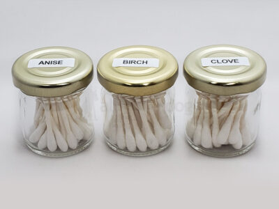Small Jar Of Cotton Swabs – Scented