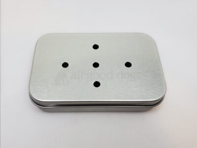 Large Tin With Hinged Lid